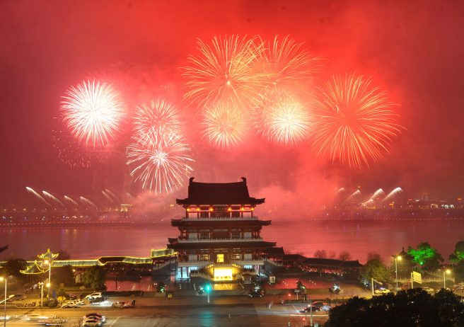 CHINA-HUNAN-CHANGSHA-LUNAR NEW YEAR EVE-CELEBRATION (CN)